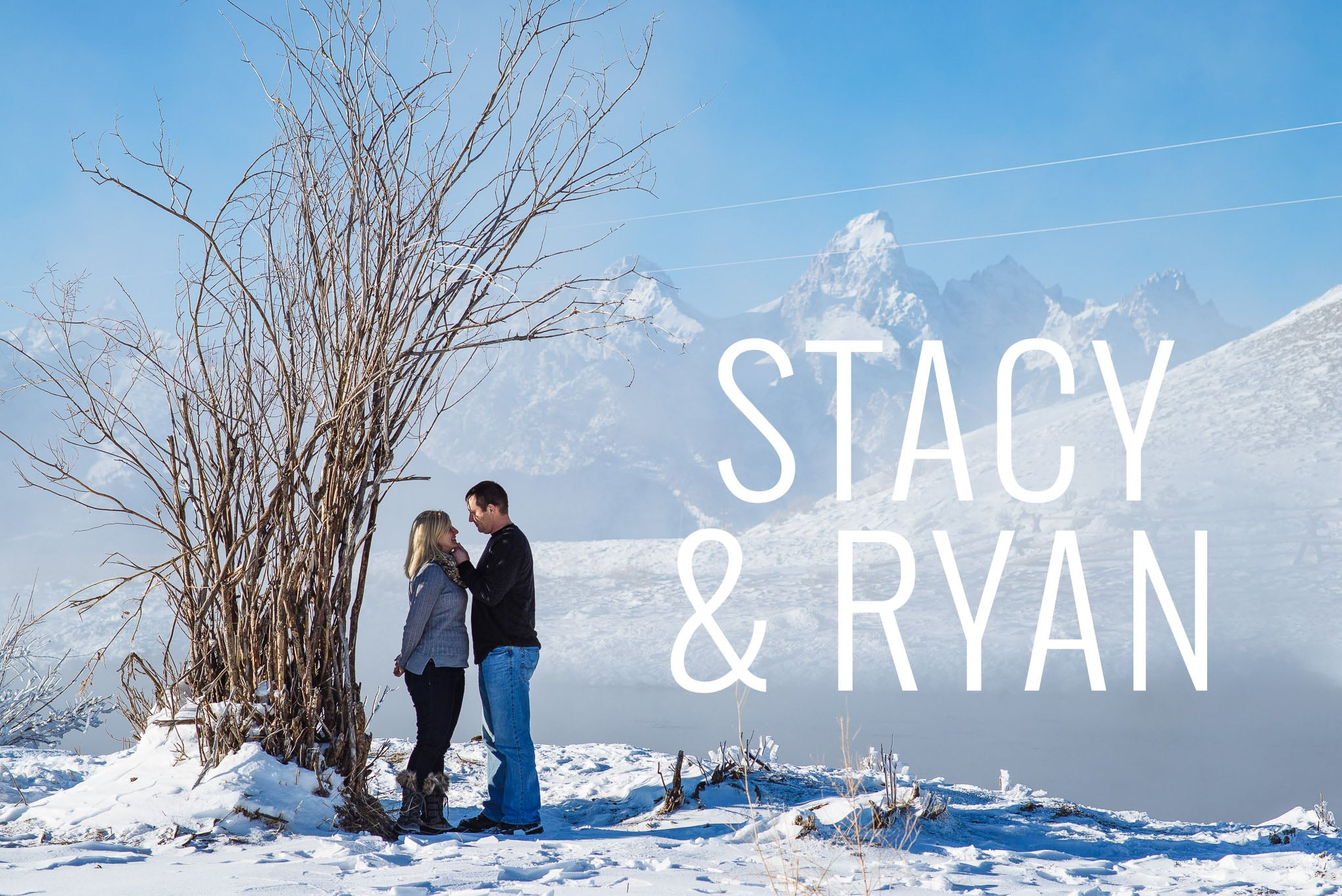 Engagement session in the tetons, Snowy engagement portraits, Jackson Hole Wedding Photography